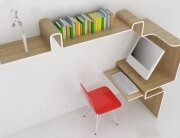 Space Saving Desk and Storage Design