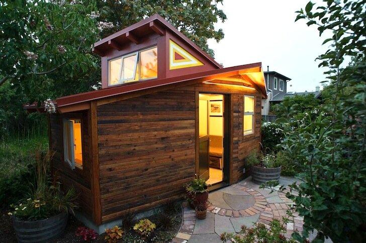 A Gorgeous Small Garden Studio Built from a Redwood ...