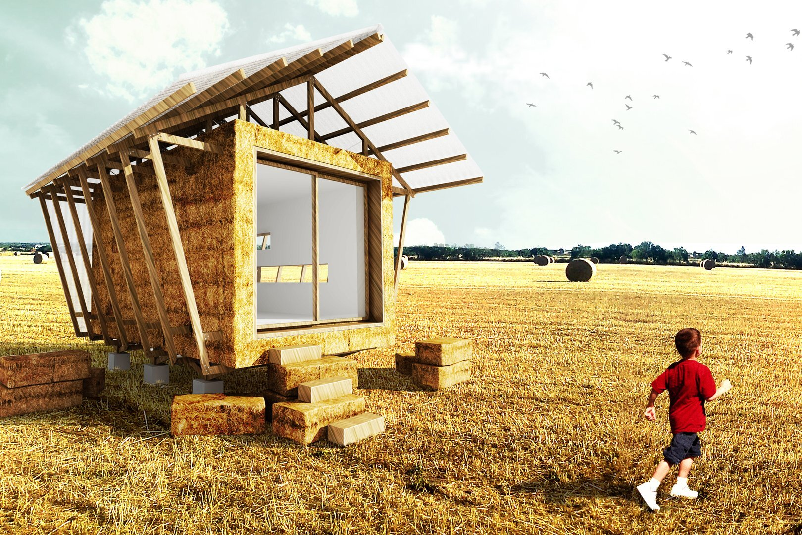 Information Booth Built From Strawbales By Studio 1984