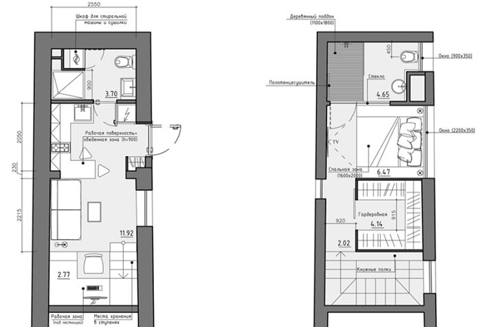 Denis svirid 39 s small stylish apartment in the ukraine for Small apartment design floor plan