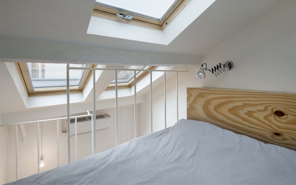 Tower Apartment by Agence SML - Paris - Bedroom - Tiny Apartment - Humble Homes