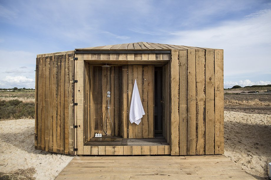 Cabanas no Rio Aires - Aires Mateus - Portugal - Retreat - Outside Shower - Humble Homes