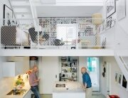 The Town House - Elding Oscarson - Johnny Lökaas - Conny Ahlgren - Landskrona, Sweden - Kitchen and Library - Humble Homes