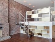 NYC Loft Studio - Tiny Apartment - Split Level - Renovation - Turett Collaborative Architects - Living Area - Humble Homes