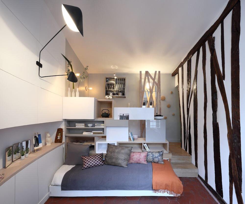 Tiny Paris Apartment Transformed Into A Functional Home
