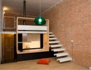 Beriot Bernardini Arquitectos - Small Apartment - Madrid - Cantilever Staircase - Humble Homes