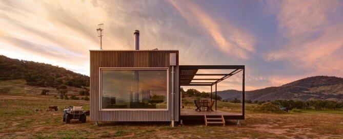 Modular Off-grid Cabin - Modscape - Tintaldra - Exterior - Humble Homes