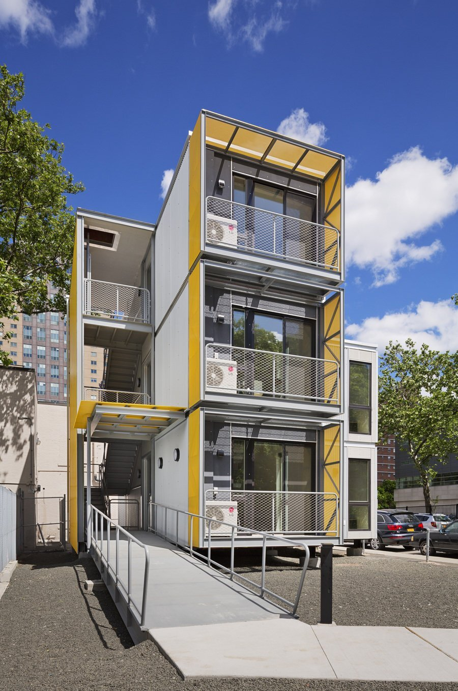 Modular disaster housing by garrison architects Modern house architect new york
