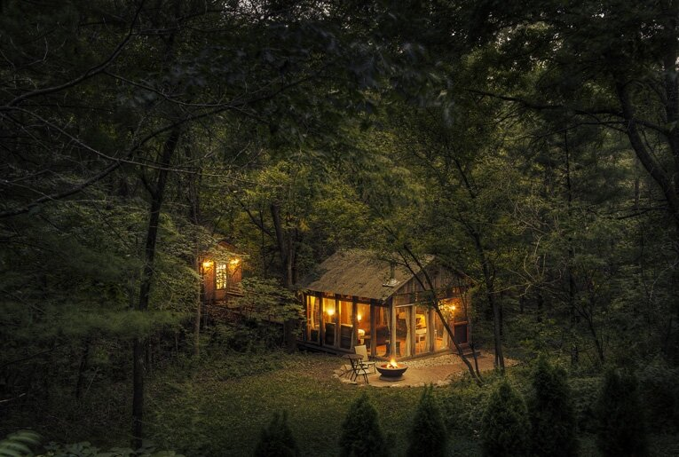 Tiny Cabin The Glass Cabin Candlewood Exterior Humble