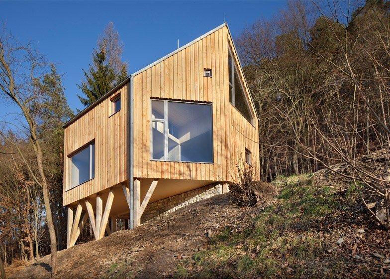 A Hexagonal House On A Hillside In Czech Republic By Alt