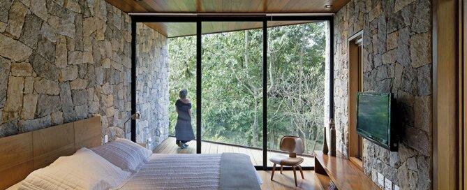 Writer's Retreat - Tiny Retreat - Architectare - Brazil - Bedroom Glazing - Humble Homes