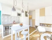 Flat in Paris - Small Apartment - Richard Guilbault - France - Dining Room and Kitchen - Humble Homes