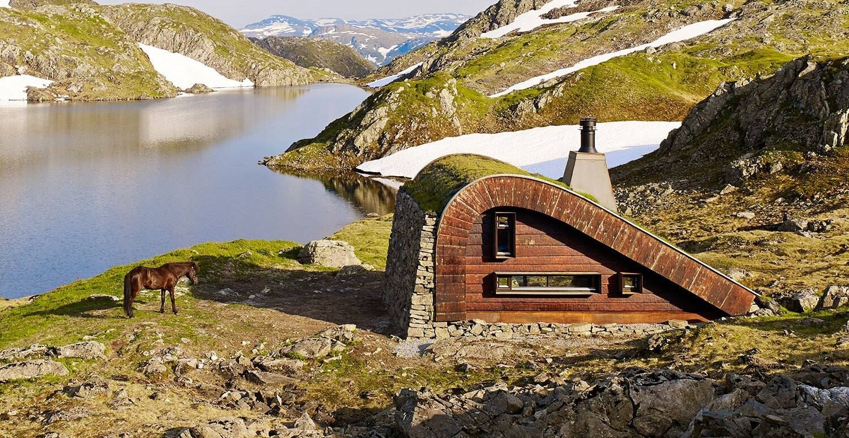 Tiny Lakeside Lodge - Snøhetta - Norway - Exterior 2 - Humble Homes