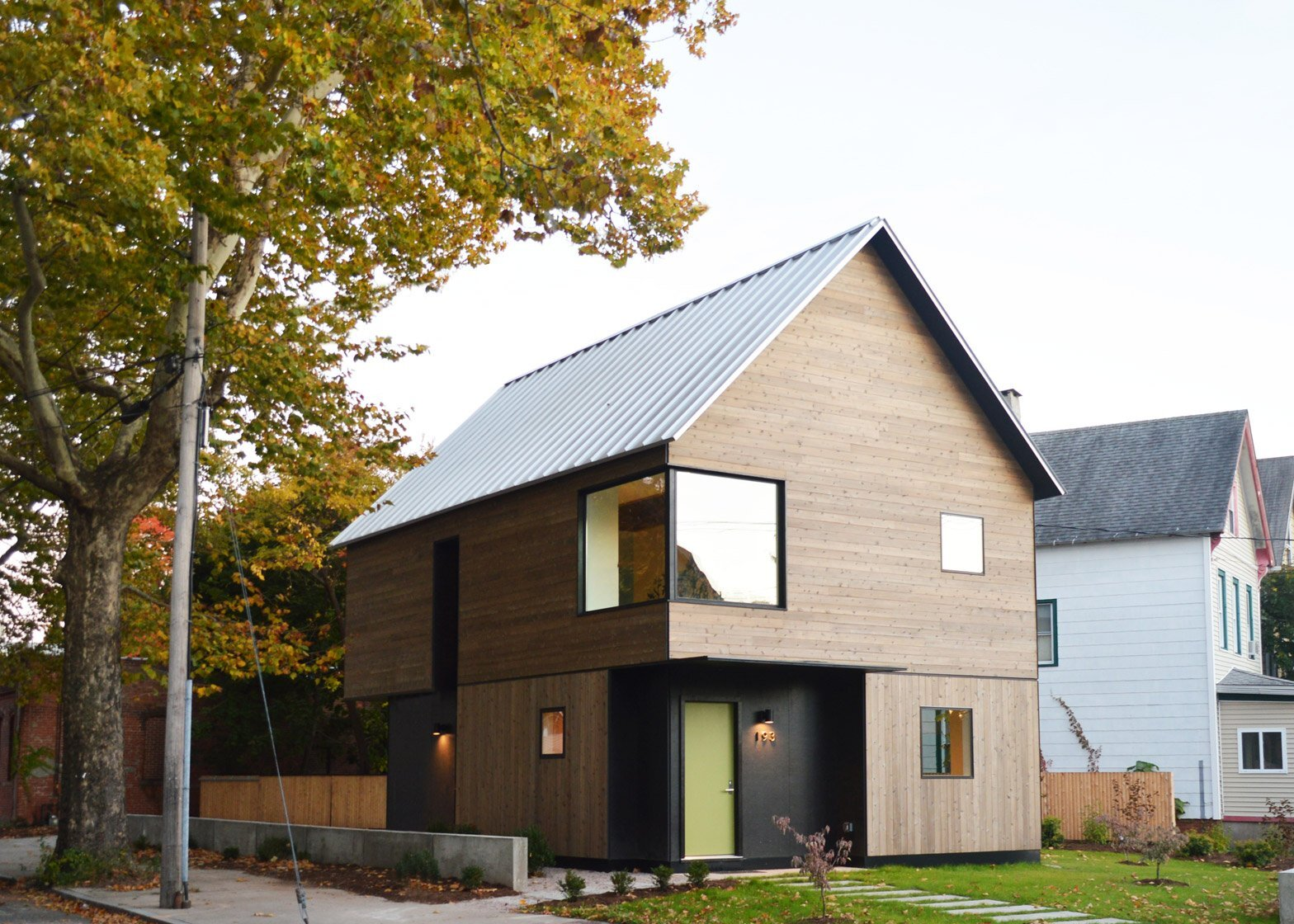 an affordable family home designed built by yale students