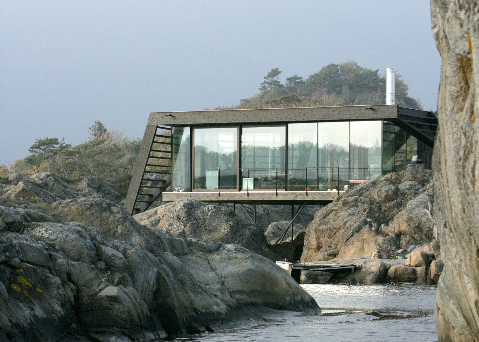 Lille Ar Ya A Small Cabin Set On The Rocks Of A