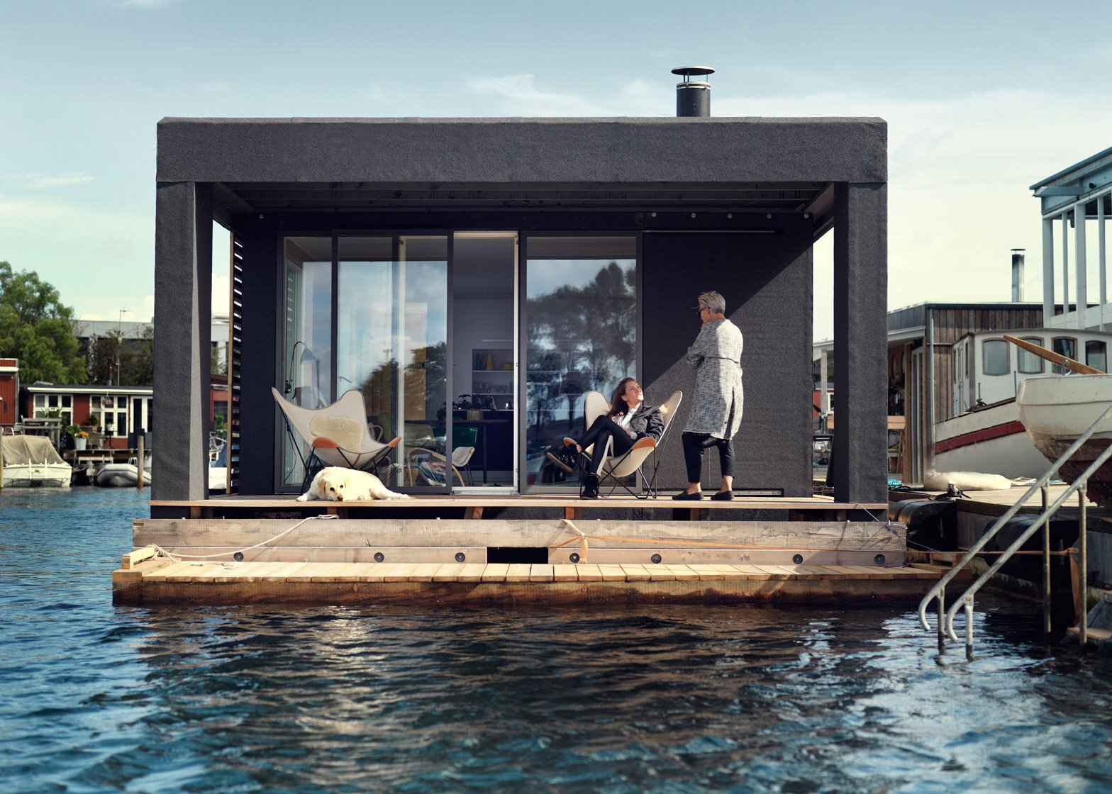 A Family Houseboat By Laust Nørgaard From Copenhagen