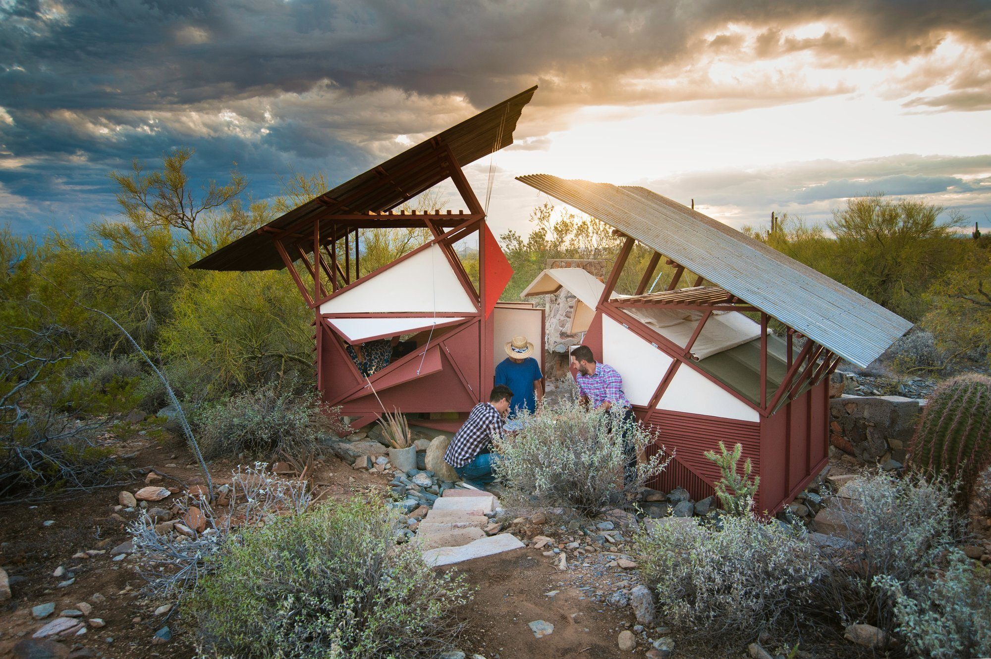 Little Shelters Students Build Desert Shelters On A