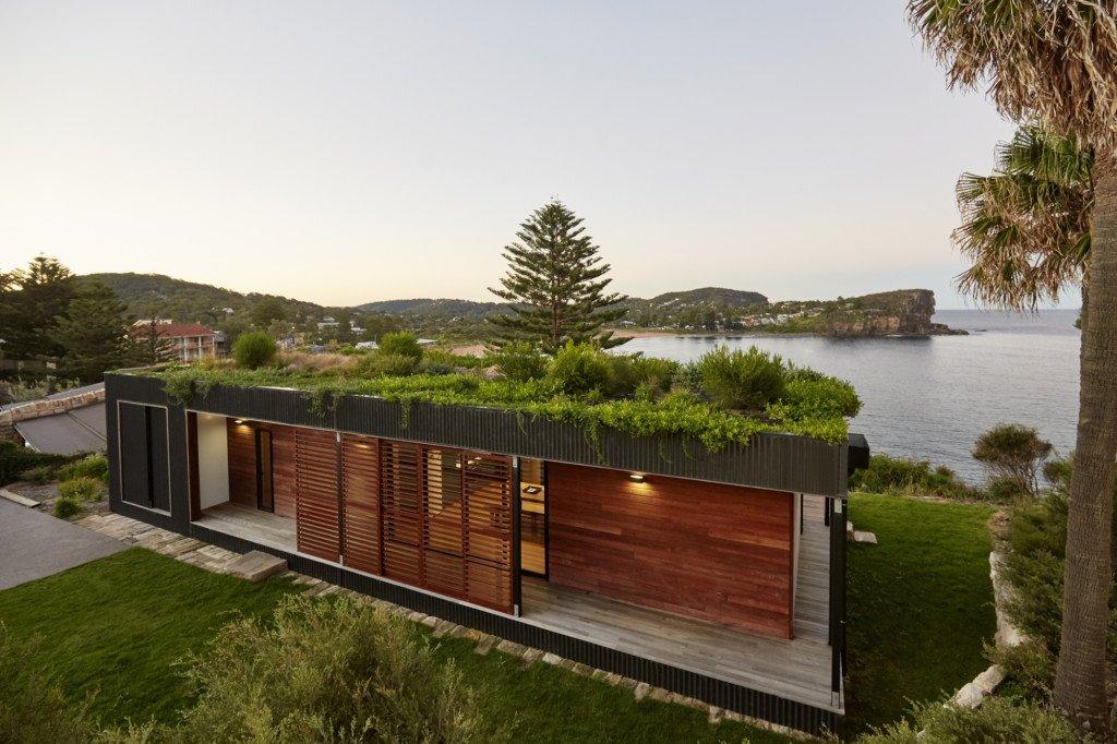 avalon house u2013 a green roofed prefab home set along the coast of nsw