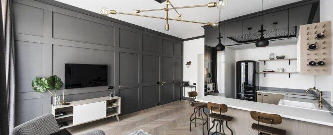 Apartment In Vilnius Old Town - Interjero Architektūra - Lithuania - Living Room - Humble Homes