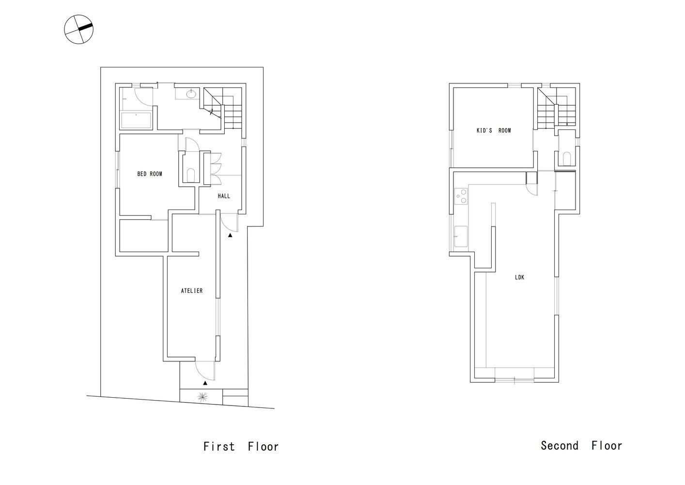 Adorable House - FORM Kouichi Kimura Architects - Japan - Floor Plan 1 - Humble Homes