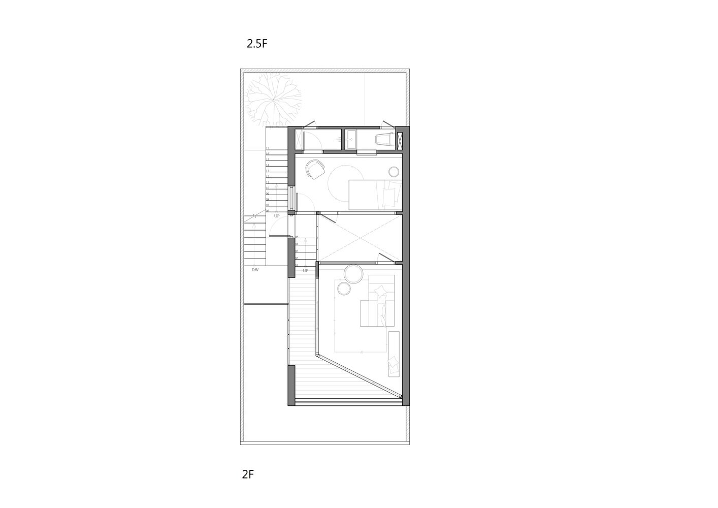 House H - HAO Design - Taiwan - Floor Plan 3 - Humble Homes