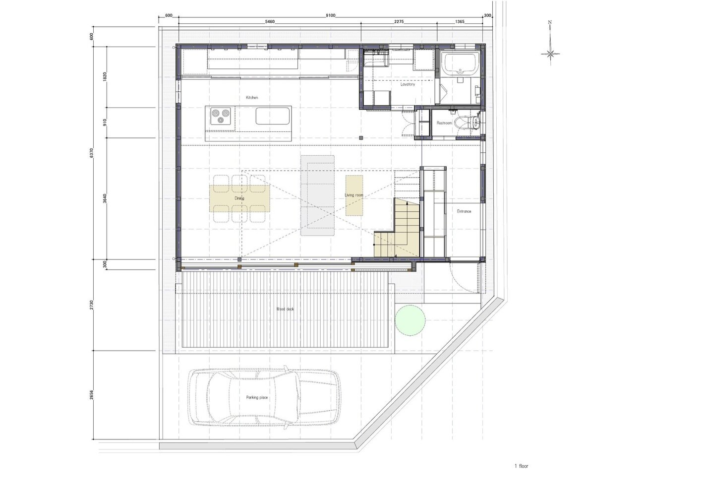 S-House - Coil Kazuteru Matumura Architects - Japan - Floor Plan 1 - Humble Homes