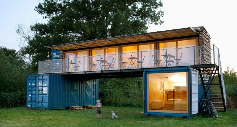 ContainHotel Artikul Architects Czech Exterior Humble Homes