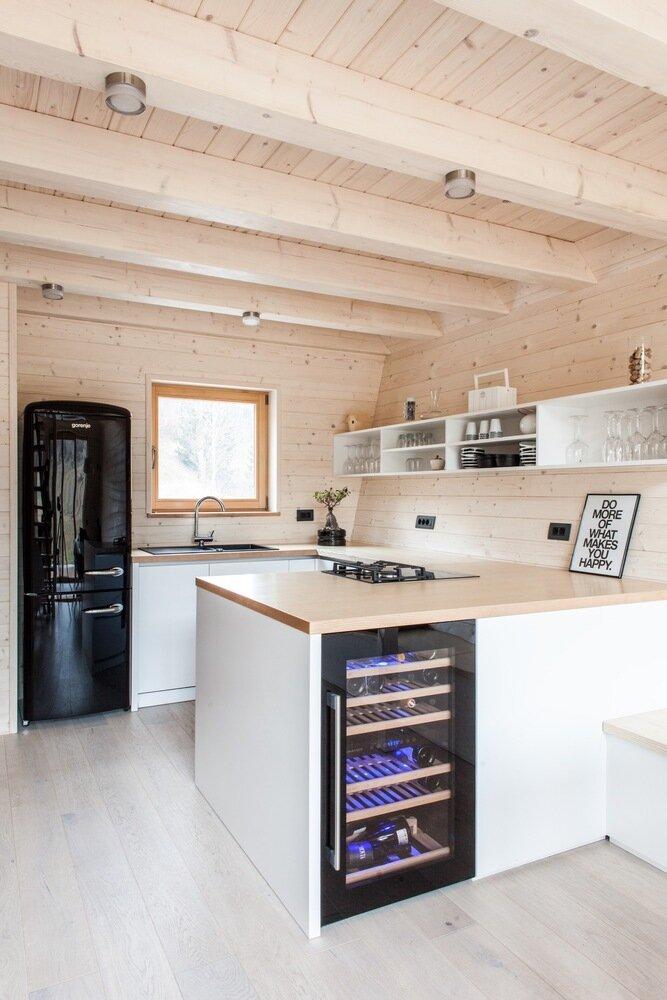 The Wooden House studio PIKAPLUS Slovenia Kitchen Humble Homes