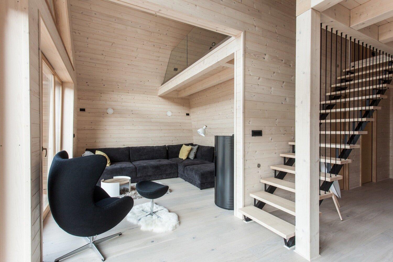 The Wooden House studio PIKAPLUS Slovenia Living Room Humble Homes