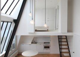 Loft L – Parisian Artist's Studio Transformed into a Monochrome Apartment