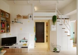 Hey! is a Small Colorful Apartment from Taipei by A'Lentil Design
