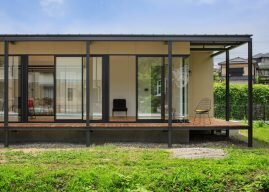 Mask House by CAPD is a Simple Home Overlooking a River from Japan