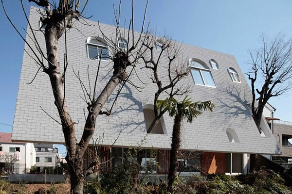Japanese House with a Steep Roof Pitch