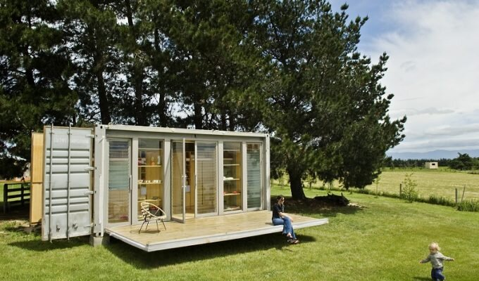 Folding Shipping Container House