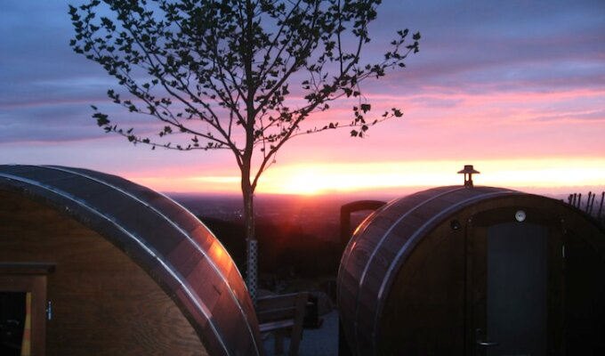 Sleeping in Wine Barrels, Germany