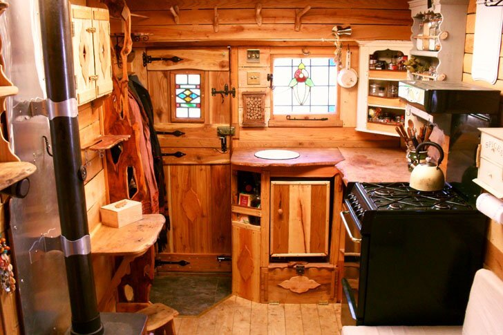 Cosy Living Spaces In The Back Of A Van