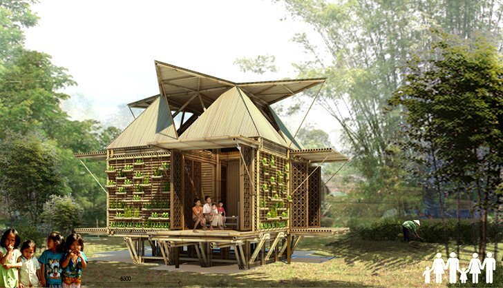 HP Architects Floating Bamboo