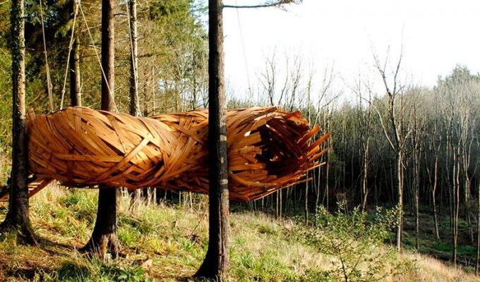The Cocoon in Hooke Park by London's Architectural Association