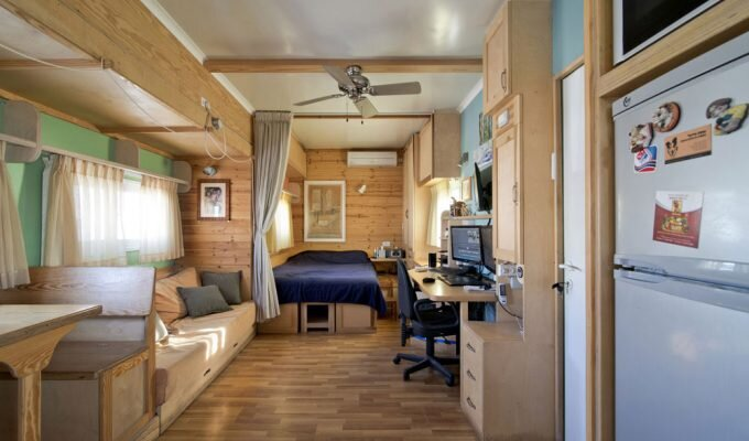 Truck Converted to a Solar Powered House on Wheels by Joseph Tayyar