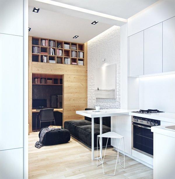 Denis Svirid's Small, Stylish Apartment in the Ukraine