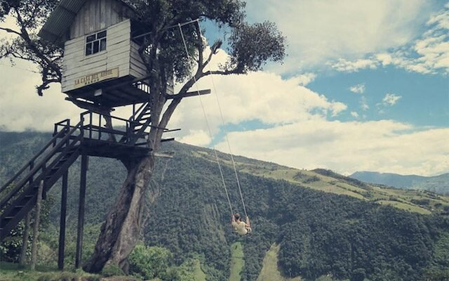 Treehouse Swing at Casa Del Arbol - Humble Homes