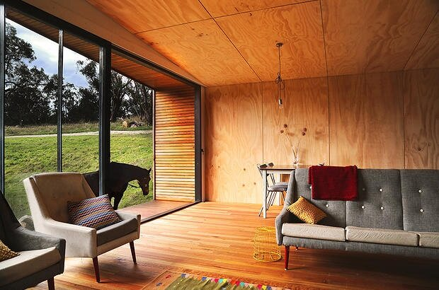 Pump House by Branch Studio Architects - Off-Grid House - Living Room - Humble Homes