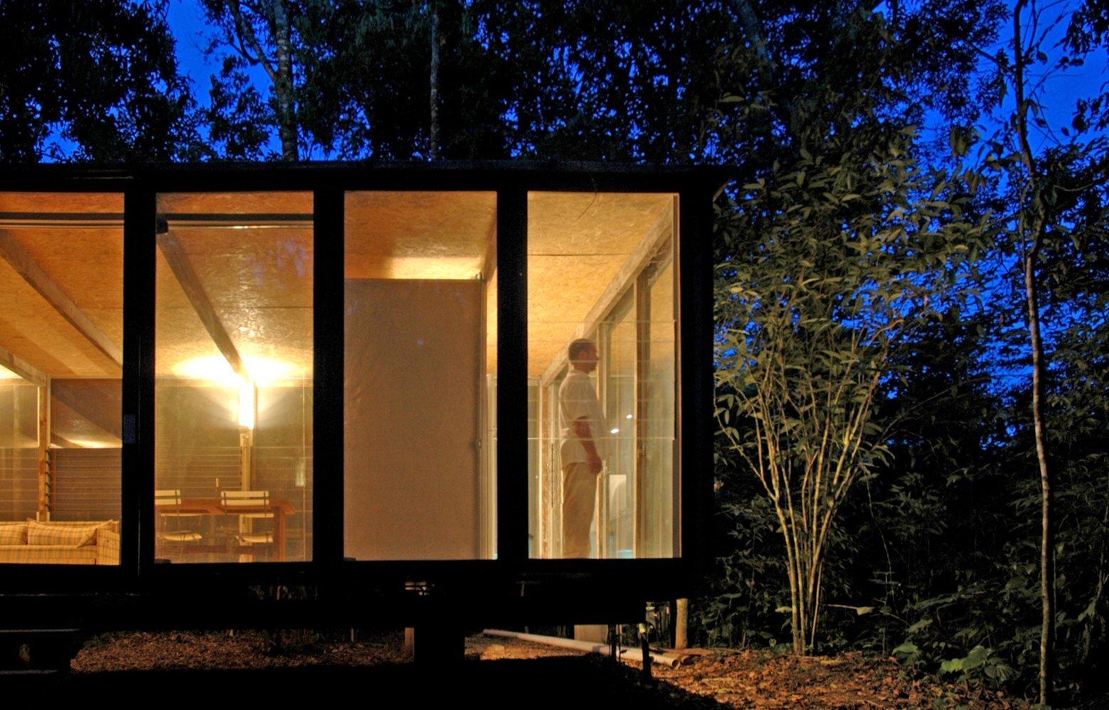 Casa na Mata - NITSCHE ARQUITETOS - Brazil - Small House - Exterior Night - Humble Homes