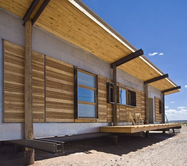 DesignBuildBLUFF Studio - Navajo Reservation - Suzie Whitehorse - Off-Grid House - Exterior Deck - Humble Homes