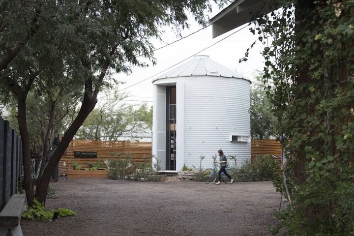 1950's Silo Converted into a Tiny House by Christoph Kaiser