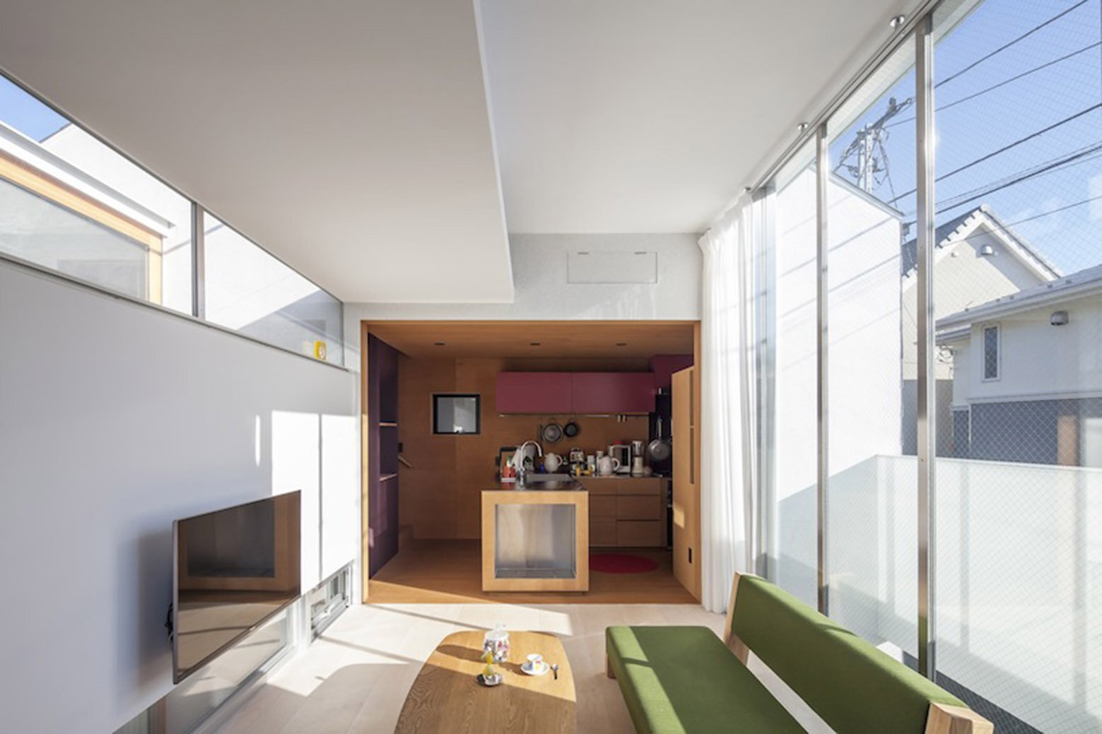 A Split-Level Small House in Tokyo for a Young Couple