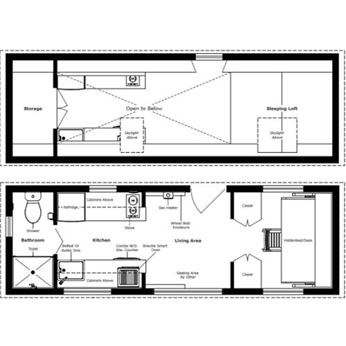 The turtle tiny house a tiny house with a bedroom for Blueprint small house plans