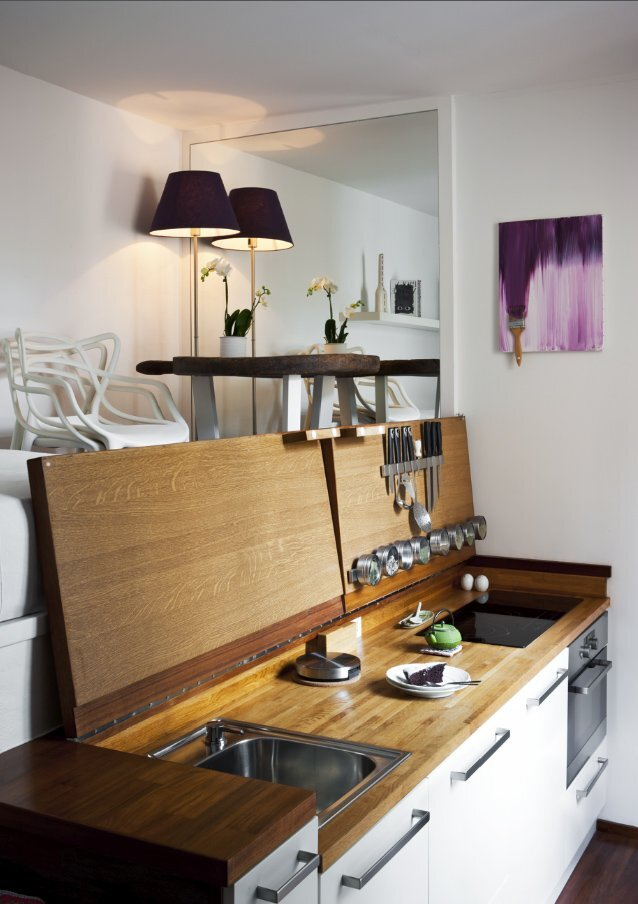 Micro Apartment   Hidden Kitchen Revealed   Humble Homes
