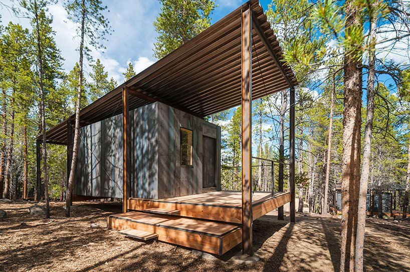 A series of rustic cabins by colorado building workshop for Rustic a frame cabin