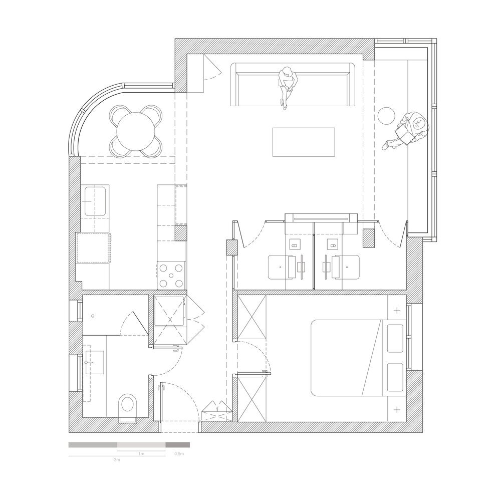 Work and Live - RUST Architects - Israel - Floor Plan - Humble Homes
